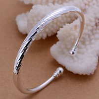 animal testing prices - Women B158 SGS Test Past Latest Trendy Classic Top quality Silver Plated Stamped bangle fashion jewelry Price