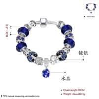 Wholesale Big discount DIY Beads Jewelry Fit Original pandora Bracelets Silver plated Charm bracelet for Women Pulseira Gfit