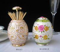 Wholesale Vintage metal toothpick holder box for tableware decoration multicolors