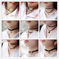 american shopping - Jewelry Flower Lace Collar Velvet Ribbon Chokers Neckband Bell Starfish Necklace to send his Girlfriend Crazy Shopping