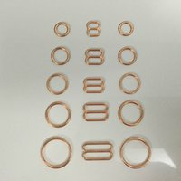 Wholesale Various size of bra rings and sliders in rose gold