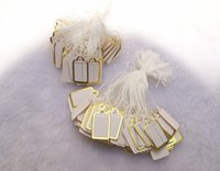 Tags, Price Tags,Card Valentine's Day 200pcs Jewellery Shop Tool Jewelry Display 200 pieces Small Tie-on PRICE TAG Gold Label Price Label for Jewelry Sales Free Shipping