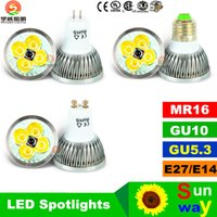 Wholesale High power CREE Led Lamp W W W Dimmable GU10 MR16 E27 E14 GU5 B22 Led Spotlight led bulb downlight