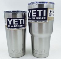 Wholesale YETI oz Stainless Steel oz Yeti Cool Cupser YETI Rambler Tumbler Cup Vehicle Beer Mug Double Wall Bilayer Vacuum Insulated