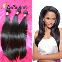 El pelo brasileño del pelo del visión del grado 7A agrupa las extensiones 8 ~ 34inch 4 del pelo recto de la trama del pelo humano de la trama del pelo humano 4 paquetes liberan el envío