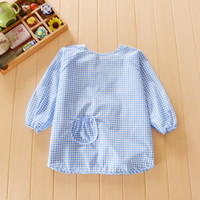 bib material - Baby Bibs Waterproof Kids Child Grid Pure Natural Materials Cotton Soft Baby Burp Cloths Long Sleeve Feeding Clothes