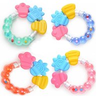 Wholesale Hot sale brand New Toy Baby Teether Infant Teething Ring Baby Rattles Biting Toy Kid