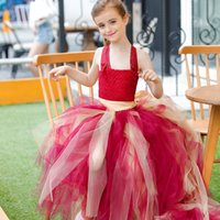 assorted pictures - 2016 Girls Pageant Dresses Spaghetti Tulle A line Princess assorted colors Dress with Bow Floor Length Girls Cheap Dresses Z345 PT17
