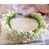 baby breath wedding - Fashion baby breath white gypsophila flower headband floral garlands wedding hairband bracelet bridal hair jewelry