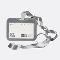 access card holder - lanyard with badge white color cardholder employee card access card holders ID