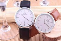 ancient pin - Dw leather strap watch ultra thin fashion in Europe and the quartz watch watch of wrist of men and women to restore ancient ways classic
