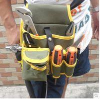 Wholesale Hardware Tool Canvas Waist Bag Belt Utility Kit Pocket Pouch Organizer