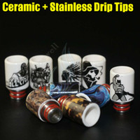 Wholesale Newest Ceramic stainless steel Mouthpiece disposable drip tips huge vaporizer wide bore dripper tip ecigs atomizers RDA tank Dripping