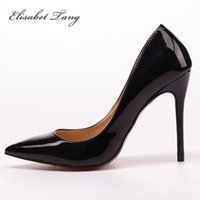 Wholesale 2016 New Sexy Red Bottom High Heels Shoes Women Pointed Toe Party Shoes Woman Fashion High Heel Pumps Woman Sapato Feminino