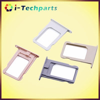adapter bars - Original New For iPhone SE SIM Card Tray Holder Slot Card Color options Replacement Adapter For Iphone S Grey Silver Gold Rose Gold