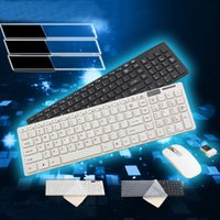 Wholesale New g WHITE mini small numeric wireless keyboard and mouse set for Win7