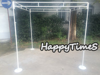 banquet wedding halls - 2 M Stainless Steel Canopy Set Wedding Banquet Outdoor Reception Hall Stand Can Expandable