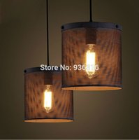 art network - LOFT Creative living room pendant lamp American country industrial retro restaurant bar lamp network single head pendant light
