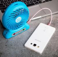 Wholesale Mini Protable Fan Multifunctional USB Rechargerable Kids Table Fan LED Light Battery Adjustable Speed