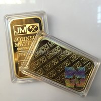 Wholesale JM Johnson Matthey Bar Rare Fine gold OZ Bullion Bar high quality coin for replica