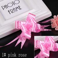 venda por atacado gift wrapping-coração 18 milímetros pequena bowknot Pull Bows Fitas Flores Embrulhos Pullbows para o partido de aniversário de casamento decoração decoração Artesanato Atacado