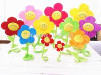 Wholesale Curtain Clasps Clip Buckle Flexible Curtain Tieback Holdback Holder Cute Cartoon Smile Face Sunflower Home Decor Flower