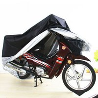 Wholesale New Arrivals Black silver XXL Motorcycle Outdoor UV Protector Motorbike Rain Cover Waterproof
