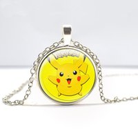 antique stocks - PokéMon Go Necklace pikachu Pendant Necklace Antique Bronze Nintendo Game Gemstone glass cabochon pokeball necklace in stock