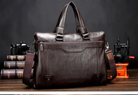 Wholesale Male package business bag new fashion urban men s casual business Leather handbag shoulder bag leather large cross section original tide