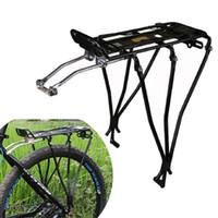 aluminum luggage rack - Aluminum Alloy MTB Bike Bicycle Rack Carrier Rear Luggage Travel Cycling Shelf Bracket For Disc Brakes Bike kg Deadweight B098