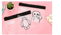 Wholesale Cute Transparent The Baymax Pencil Case Storage Organizer Bag Stationery
