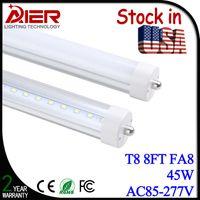Wholesale Stock in USA W ft led tube light T8 mm AC85 V FA8 single pin LED Fluorescent Tube Lamps Feet
