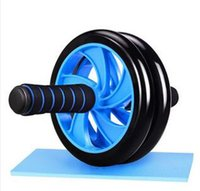 ab workouts gym - Dual AB wheel Abs Abdominal Gym Roller Workout Exercise Gym Roller Fitness Blue ship from USA