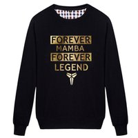 autumn forever - Kobe Bryant Forever Mamba Black Men s fleece Sweatshirts Hoodies High Quality Basketball Jerseys Jumpers Mens Fashion Autumn Coats