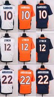 Wholesale 2016 Newest Men s DB Emmanuel Sanders Paxton Lynch C J Anderson Elite Jerseys
