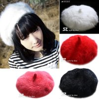 Wholesale Fedex Free ship New Pretty Girls Wool Berets Top Hat Fashion Women Fashion Wool Warm French Beret Hats Ladies Berets Girls Wool Caps
