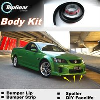 Wholesale Bumper Lip Lips For Holden Ute Front Skirt Deflector Spoiler For Car Tuning The Stig Recommend Body Kit Strip