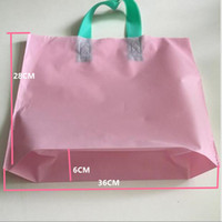 Wholesale 28cm cm cm packaging bag square bottom bag Matte hand bag No printing shopping bag PE
