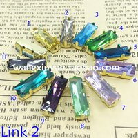metal claw spikes - All Colors x15mm Long Baguette fancy point back rhinestone strass with metal claw hot sell very shine and high quality