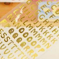 Wholesale Sheets Gold Silver Color A to Z Alphabet Sticker Sticker School Supplies Kid Children Toy Decoration