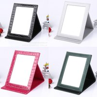 Wholesale 14 Colors Fashion Foldable Makeup Mirror Women Beauty Portable PU Leather Cosmetic Mirror Compact Mirror for Make Up