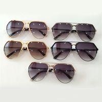 best eyeglass lenses - Trendy Cool Best Sunglasses for Men Shield Toad Style Fashion UV400 Grey CR Material Lens Alloy Full Frame Eyeglasses Online