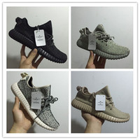 Wholesale Kanye boost white mens shoes Fashion boosts Breathable turtle dove casual running shoes moonrock West Oxford Tan