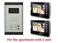 audio entry systems - Apartment Wired Inch Black Monitor Video Door Phone Audio Visual Intercom Entry Access System Units