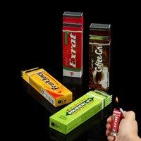 arrow gas - Novelty gas Chutty Lighter Chewing Gum Butane Lighters Green Arrow Flame lighter Gadget Hot Sell HHA975