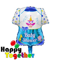 aluminum shirt - 50pcs Mini Boy Girl Baby Kids Toys Baby Shower Shirt Aluminum Foil Balloons Anniversaire Birthday Party Decoration