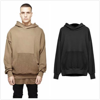 Cheap Top Fashion Kanye West Oversized Hoodies Represent Distress Style Drop Shoulder Hip Hop Streetwear Free Shipping