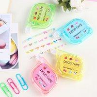 Wholesale G44 Cute Kawaii Sweet Press Decorative Correction Colorful Album DIY Tape Fluid School Office Supply Stationery Decor