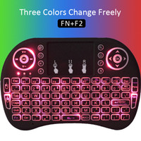 air control android - RI8 Backlight Wireless Keyboard Touchpad G Wireless Air Mouse For MXQ M8S Android TV Box Black White color Remote Control Gaming Mouse