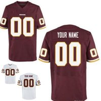 Wholesale Washington Redskin Custom Elite Football Jerseys For Men And Women High Quality Stitched Any Name and Number Two Colors Allowed